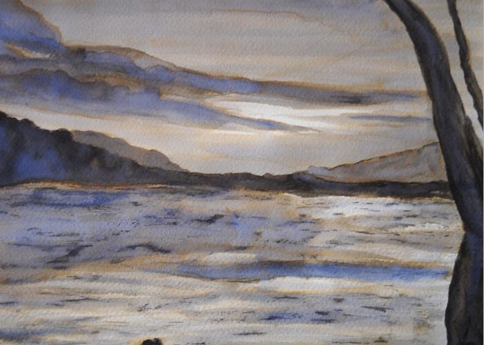 Desolate Greeting Card featuring the painting Desolate by Nicla Rossini