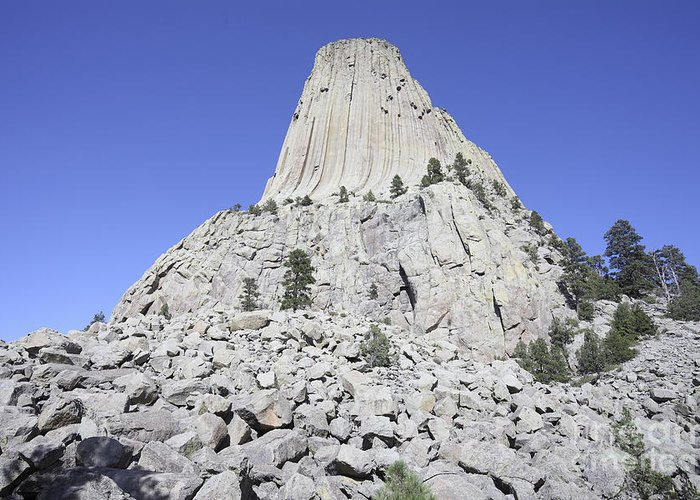 Steep Greeting Card featuring the photograph Devils Tower National Monument, Wyoming by Richard Roscoe