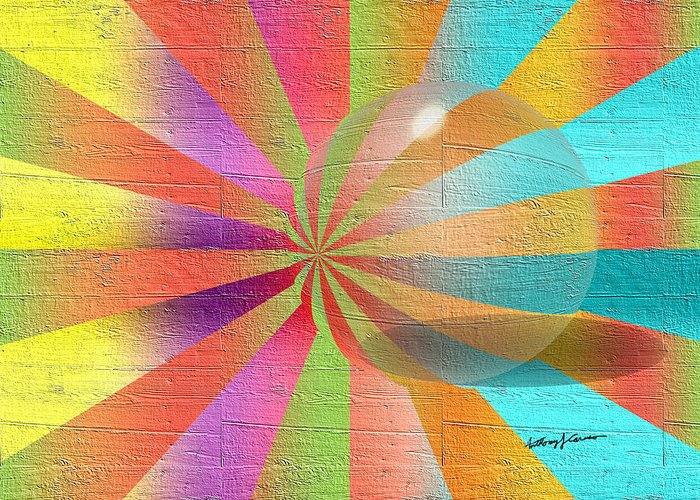 Abstract Greeting Card featuring the digital art Digital Art 2 by Anthony Caruso