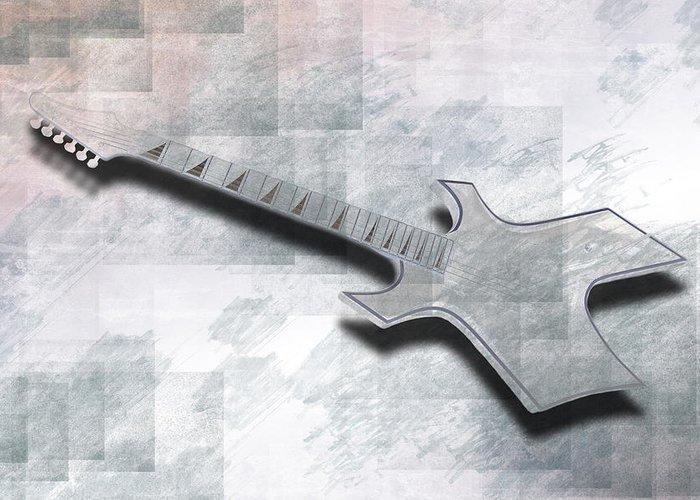 String Greeting Card featuring the photograph Digital-art E-guitar IIi by Melanie Viola
