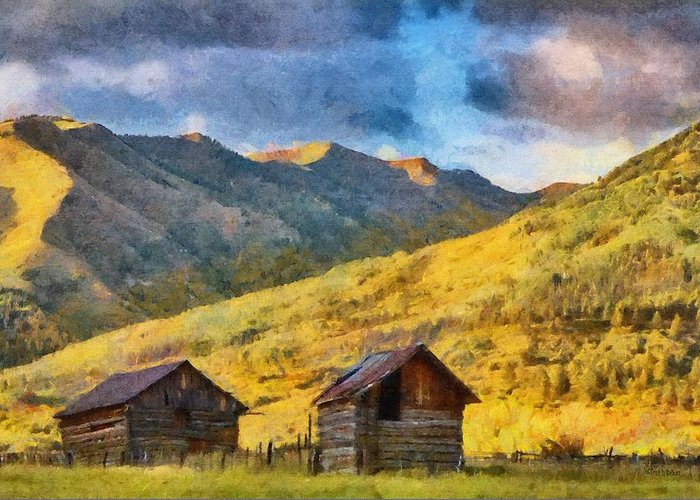 Colorado Greeting Card featuring the painting Distant Storm by Jeff Kolker