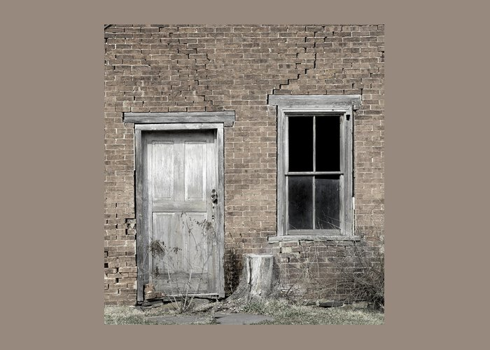 Surreal Greeting Card featuring the photograph Distressed Facade by John Stephens