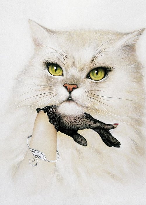 Felis Catus Greeting Card featuring the photograph Domestic Cat, Conceptual Image by Smetek