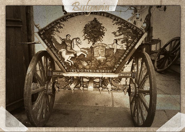Donkey Cart Greeting Card featuring the photograph Donkey Cart by Cliff Norton