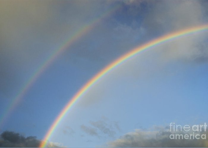 Awe Greeting Card featuring the photograph Double Rainbow by Sami Sarkis