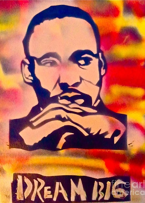 Occupy Greeting Card featuring the painting Dream Big by Tony B Conscious