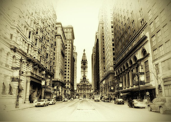 Philadelphia Greeting Card featuring the photograph Dreamy Philadelphia by Bill Cannon