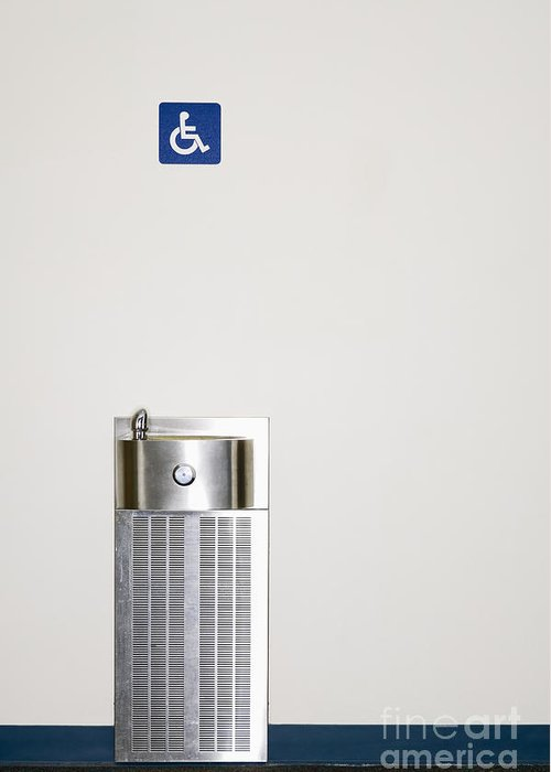 Access Greeting Card featuring the photograph Drinking Fountain by Andersen Ross