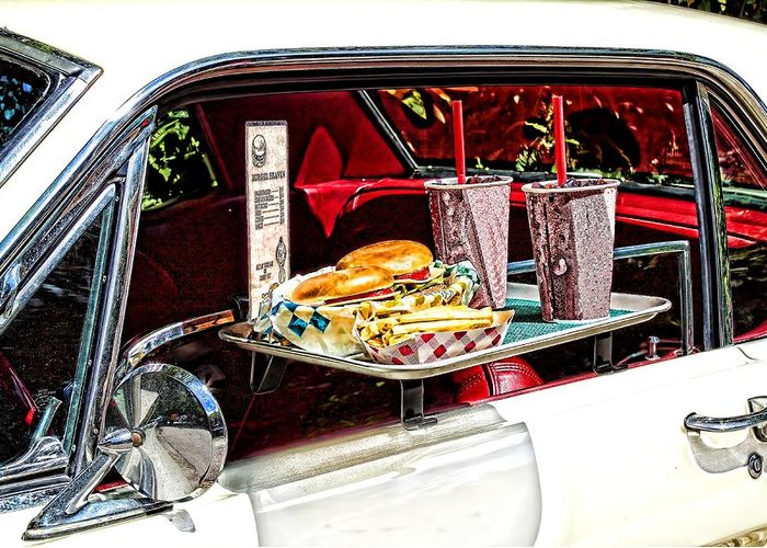 Food Greeting Card featuring the photograph Drive-in by Rudy Umans