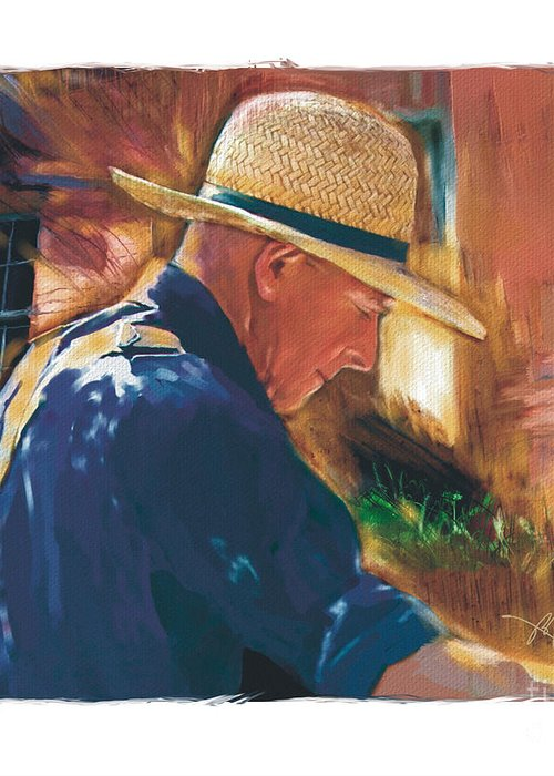 Farmer Greeting Card featuring the digital art Early To Rise . . . by Bob Salo