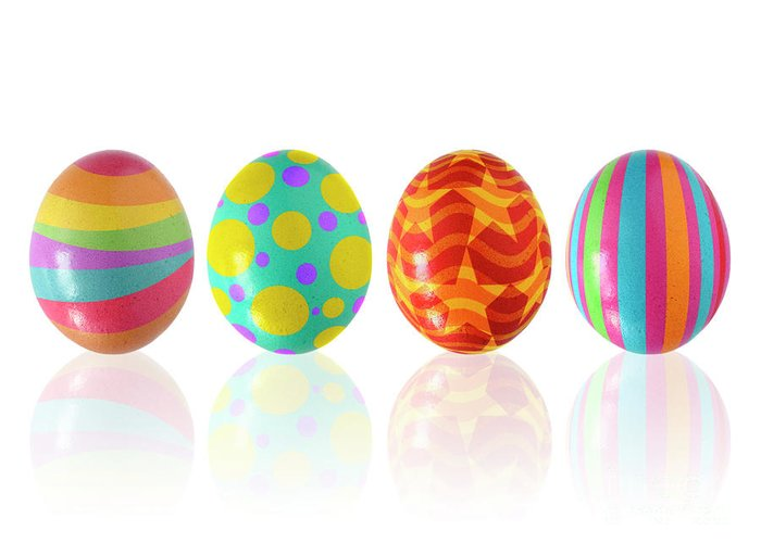 April Greeting Card featuring the photograph Easter Eggs by Carlos Caetano