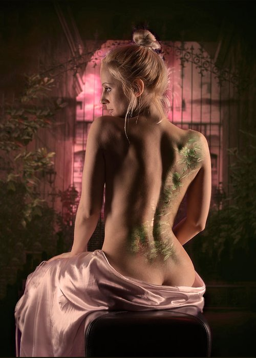 Nude Greeting Card featuring the photograph Eden by Naman Imagery