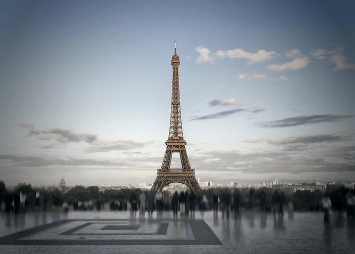 Europe Greeting Card featuring the digital art Eiffel Tower Paris by Melanie Viola
