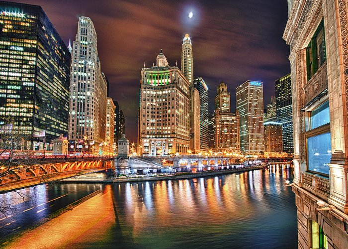Chicago Greeting Card featuring the photograph Electric City by Joel Olives