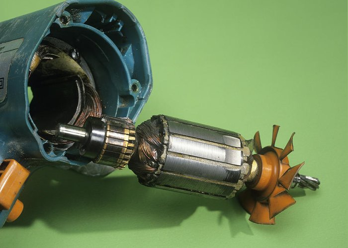 Drill Greeting Card featuring the photograph Electric Motor by Andrew Lambert Photography
