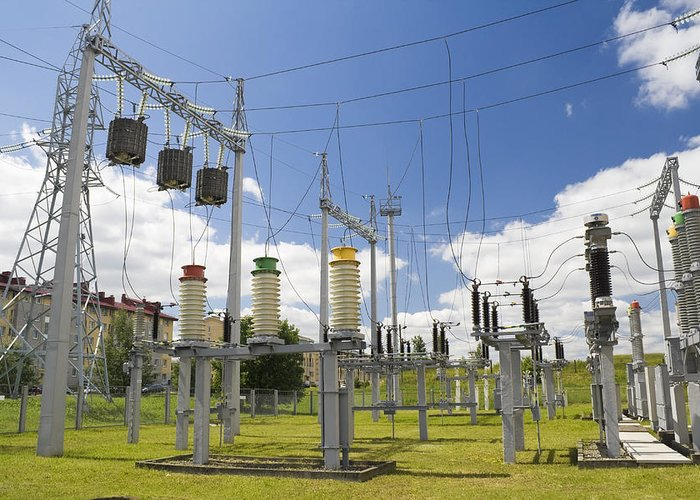 Power Greeting Card featuring the photograph Electricity For A City by Aleksandr Volkov