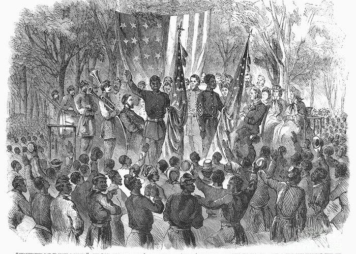 1863 Greeting Card featuring the photograph Emancipation, 1863 by Granger
