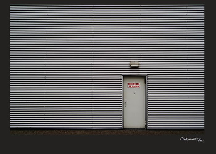 Emergency Greeting Card featuring the digital art Emergency Exit by Xoanxo Cespon