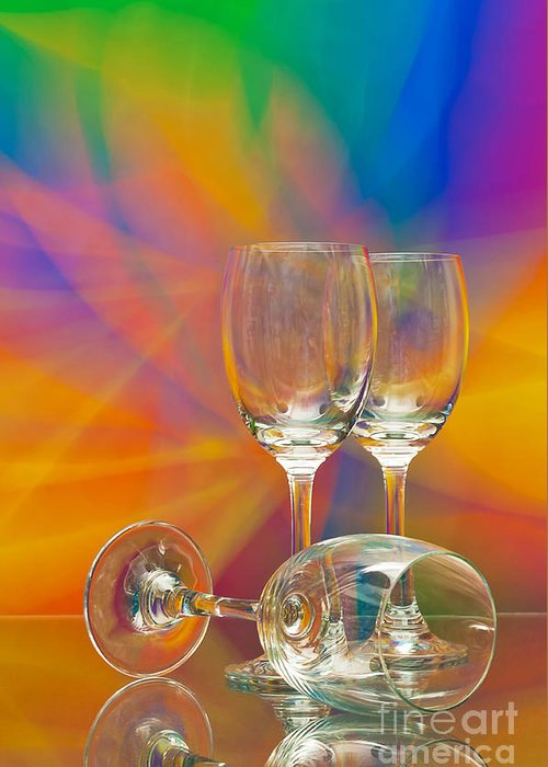 Alcohol Greeting Card featuring the photograph Empty Wine Glass by Anuwat Ratsamerat