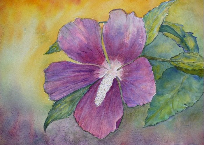 Althea Greeting Card featuring the painting End Of Summer by Stella Schaefer