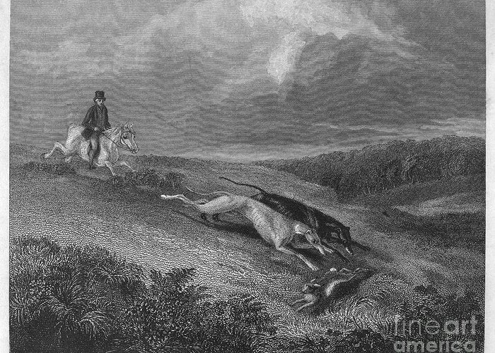 1833 Greeting Card featuring the photograph England: Coursing, 1833 by Granger