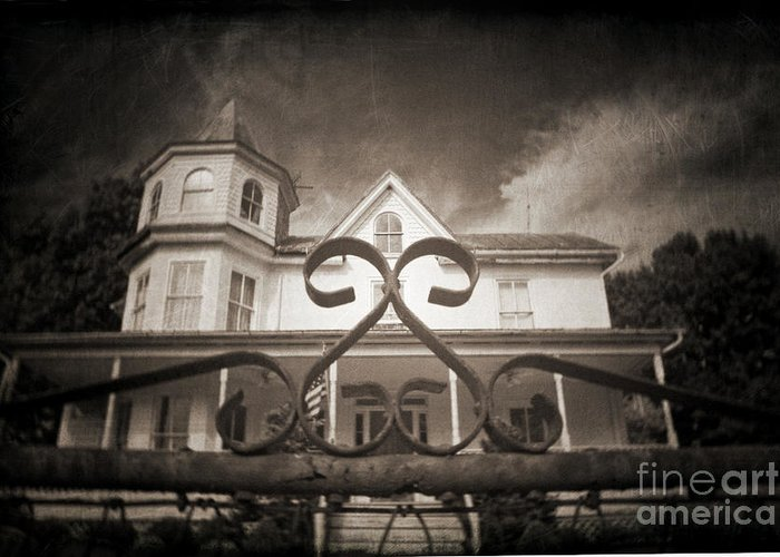 Gate Greeting Card featuring the photograph Enter If You Dare by Jane Brack