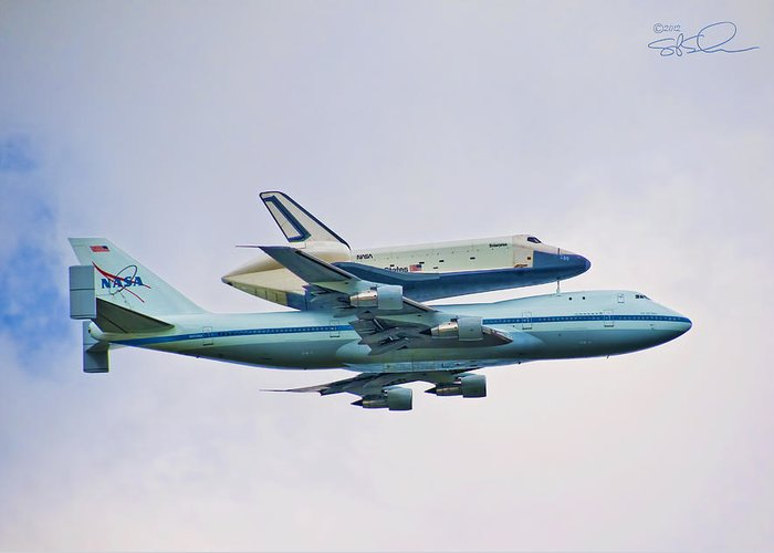 Shuttle Greeting Card featuring the photograph Enterprise 5 by S Paul Sahm