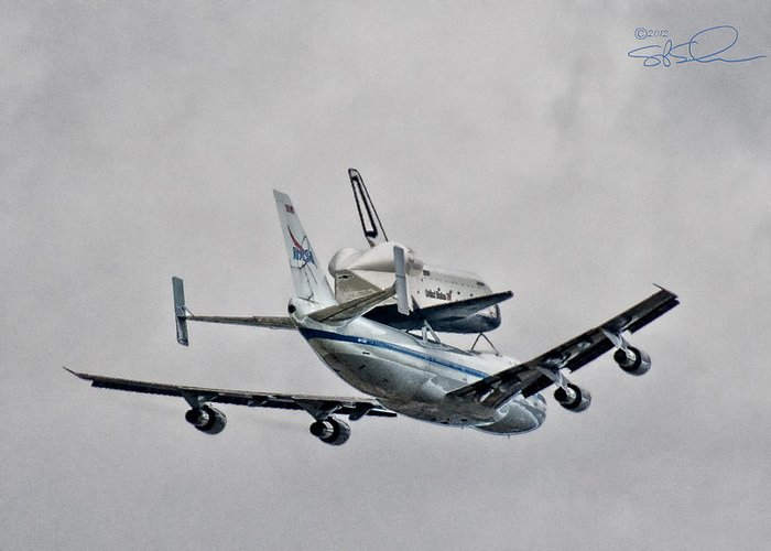 Shuttle Greeting Card featuring the photograph Enterprise 7 by S Paul Sahm