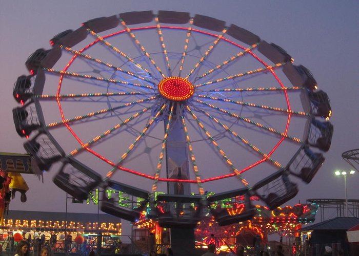 Seaside Heights Greeting Card featuring the photograph Enterprise by Michele Caporaso