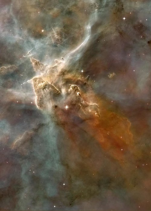 Carina Nebula Greeting Card featuring the photograph Eta Carinae Nebula, Hst Image by Nasaesan. Smith (university Of California, Berkeley)hubble Heritage Team (stsclaura)