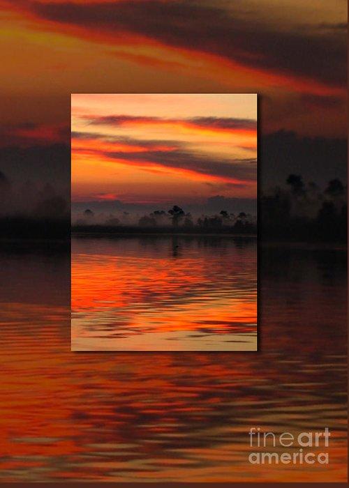 Ethereal Sunrise In Sunrise Greeting Card featuring the photograph Ethereal Sunrise In Sunrise by Judee Stalmack