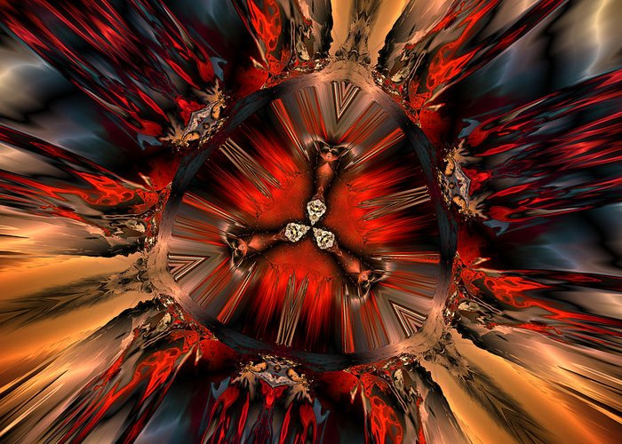Digital Greeting Card featuring the digital art Excitement In Red by Claude McCoy