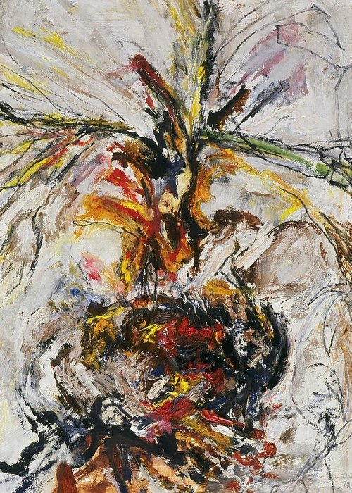 Fine Art Greeting Card featuring the painting Explosion Two by Iris Gill