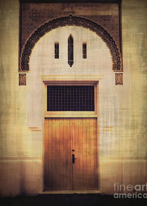 Door Greeting Card featuring the photograph Faded Doorway by Perry Webster
