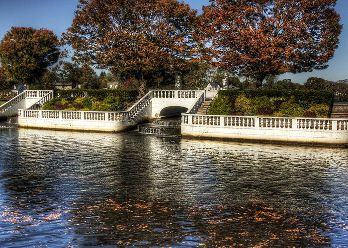 Babylon Village Greeting Card featuring the photograph Fall Falling by Vicki Jauron