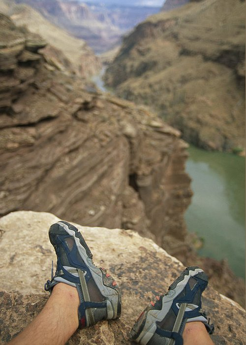 World Heritage Sites Greeting Card featuring the photograph Feet Shod In River Shoes On An Overlook by Bobby Model