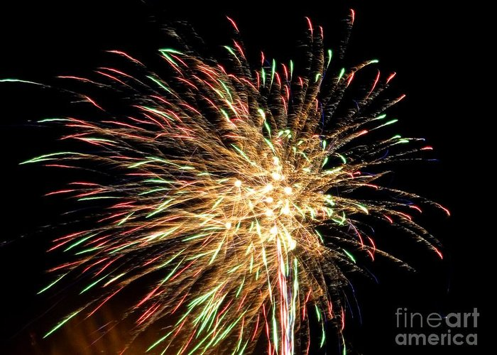 Firework Greeting Card featuring the photograph Firework by Meandering Photography