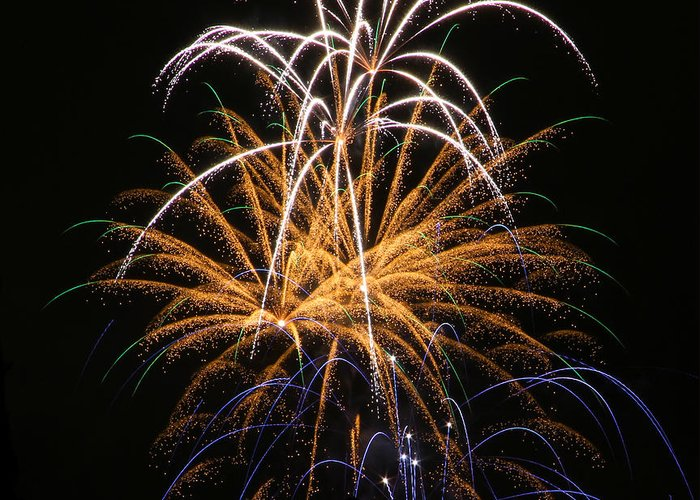 Firework Photos Greeting Card featuring the photograph Fireworks 6 by Paul Marto