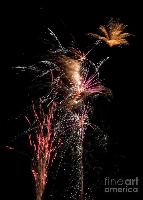 Fireworks Greeting Card featuring the photograph Fireworks by Cindy Singleton
