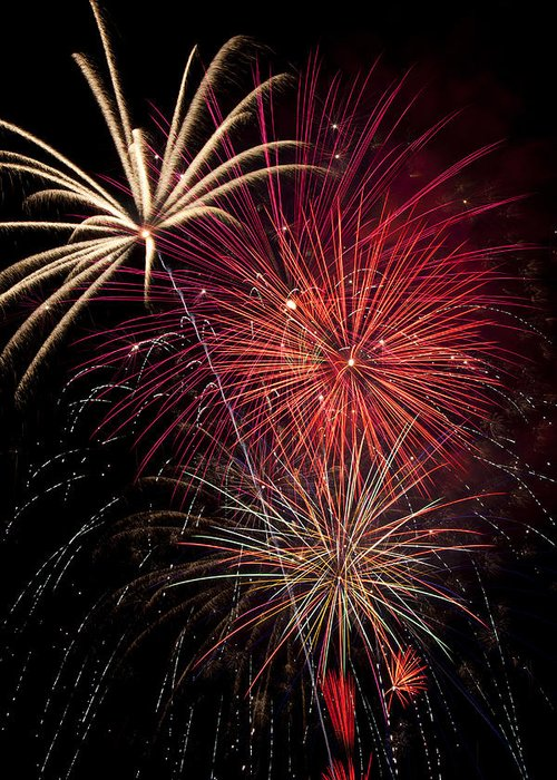 4th Of July Greeting Card featuring the photograph Fireworks by Garry Gay