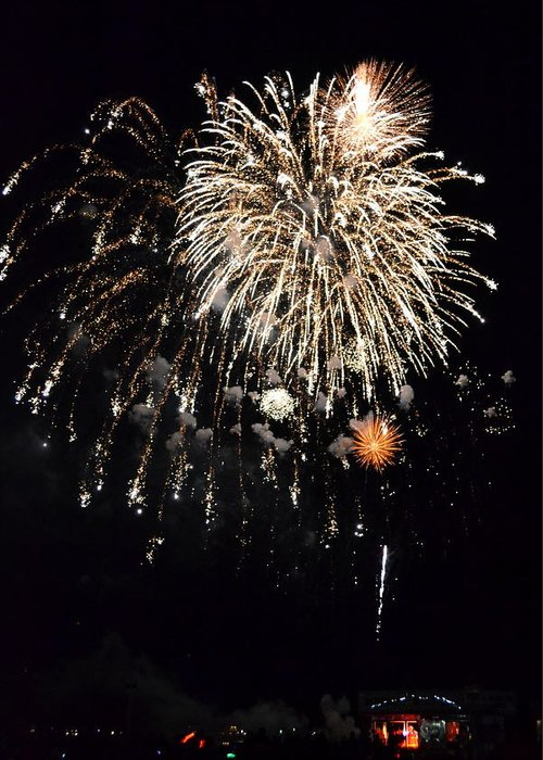 New Greeting Card featuring the photograph Fireworks by Michelle Calkins
