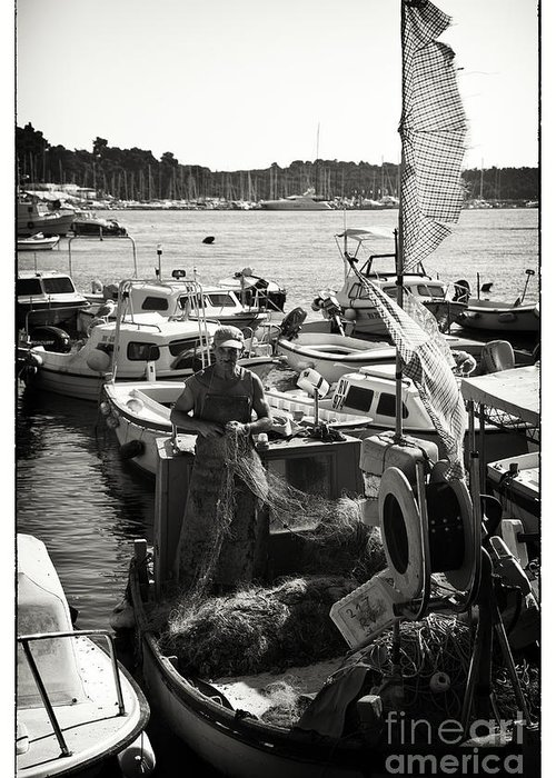 Fisherman Greeting Card featuring the photograph Fisherman by Madeline Ellis