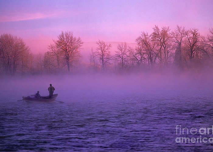 Bow Greeting Card featuring the photograph Fishing On The Bow by Bob Christopher