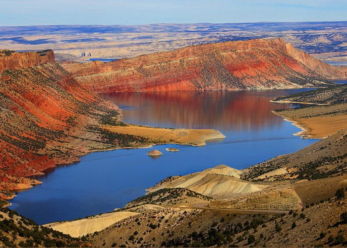 Utah Greeting Card featuring the photograph Flaming Gorge by Donna Duckworth