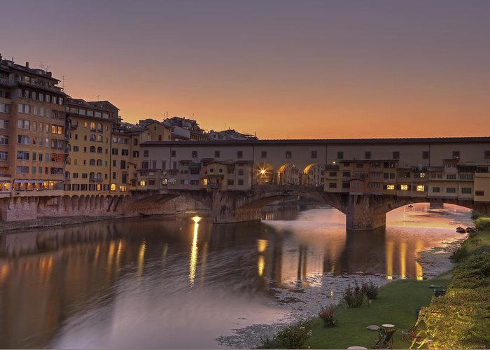 Florence Greeting Card featuring the photograph Florence - Ponte Vecchio by Joana Kruse