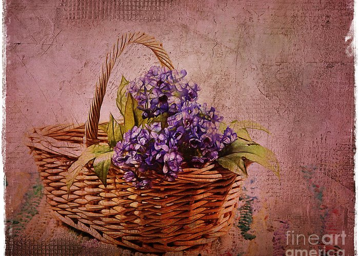 Flowers Greeting Card featuring the photograph Flower Basket by Judi Bagwell