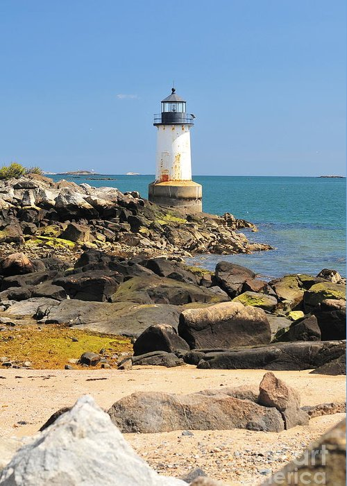 Salem Greeting Card featuring the photograph Fort Pickering Lighthouse by Catherine Reusch Daley