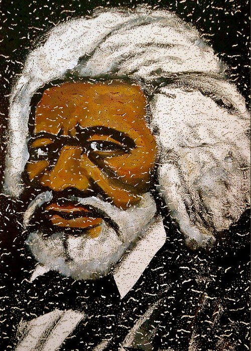Slave Greeting Card featuring the painting Frederick Douglas by Pete Maier