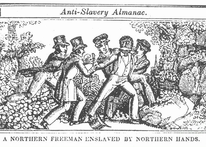 1839 Greeting Card featuring the photograph Freedman Enslaved, 1839 by Granger