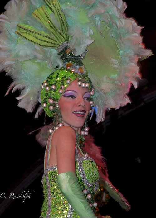 Tropicana Nightclub Greeting Card featuring the photograph French Feathers by Cheri Randolph
